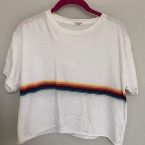 brandy melville rainbow stripe aleena top